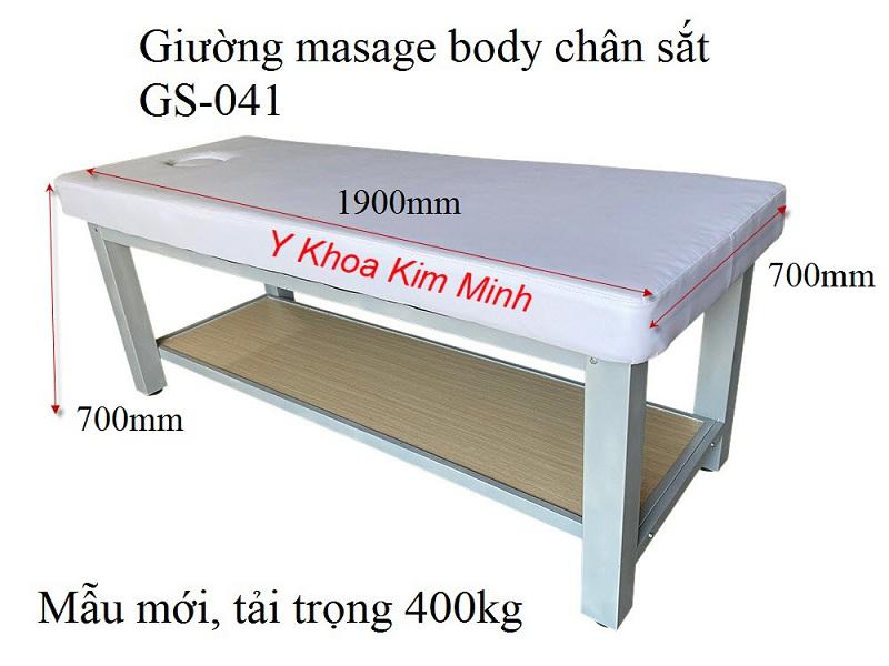 Giường masage full body khung chân sắt mã sản phẩm GS-041 sản xuất tại Y Khoa Kim Minh