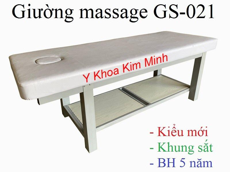Giường massage khung chân sắt bảo hành 5 năm mã GS-021 - Y khoa Kim Minh