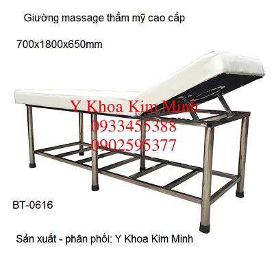 Giuong mat xa inox nang dau cao cap BT-0616 san xuat tai Y khoa Kim Minh