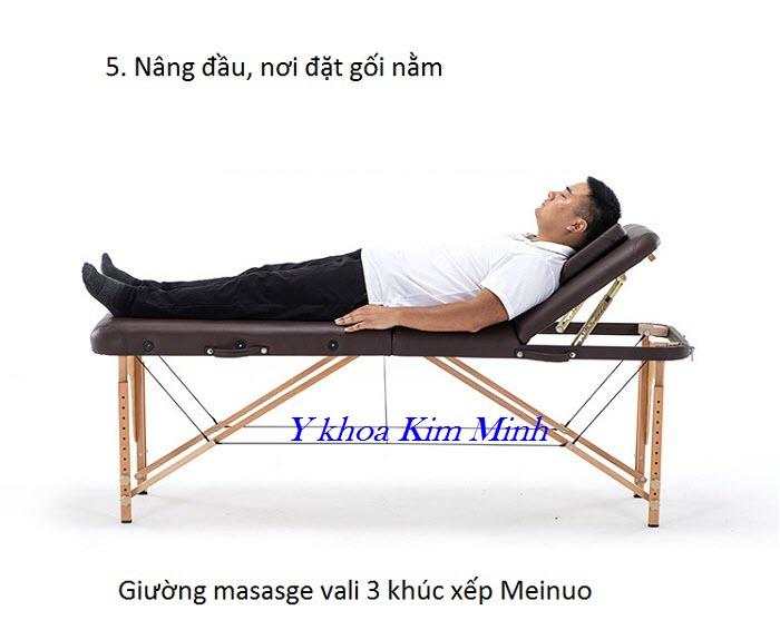 Meinuo, nhãn hiệu giường masasge nâng đầu vali xếp 3 khúc hàng đầu tại Việt  Nam - Y khoa Kim Minh