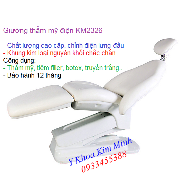 Noi ban giuong massage tham my chinh dien 3 khuc KM2326 - Y Khoa Kim Minh 0933455388
