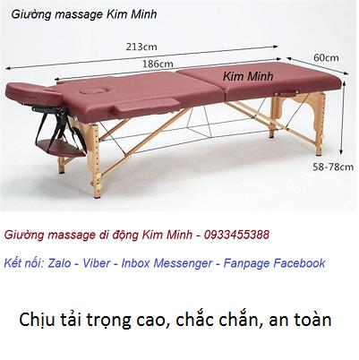 Giường vali di động chân xếp gọn 2 mảnh bán tại Y khoa Kim Minh