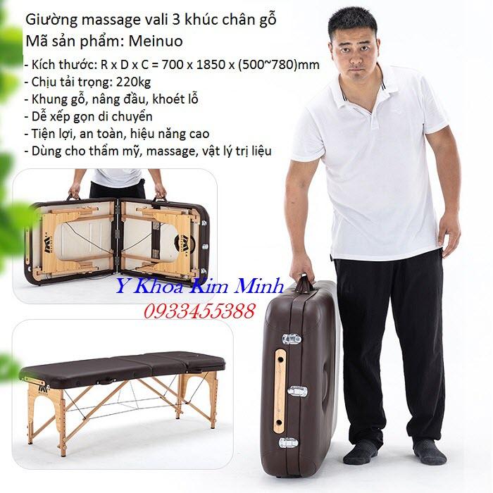 Giuong vali xep 3 khuc chan go ban o dau tai Tp Ho Chi Minh - Y Khoa Kim Minh