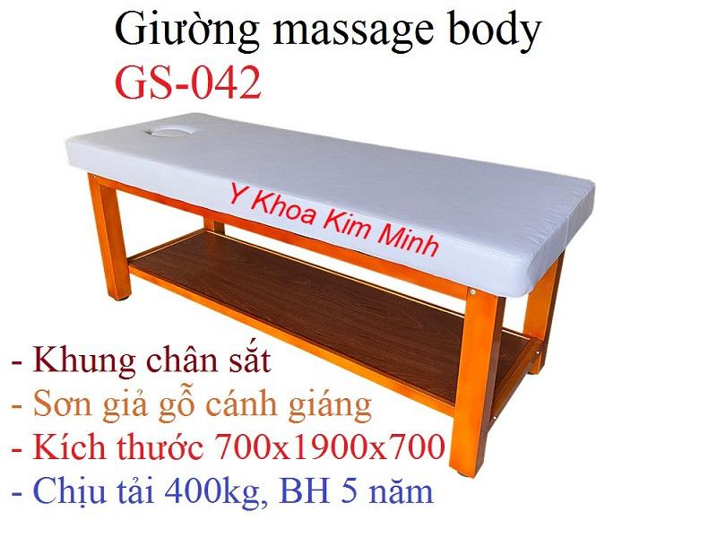 Giường mat xa body GS-042 khung chân sắt sản xuất tại Y Khoa Kim Minh