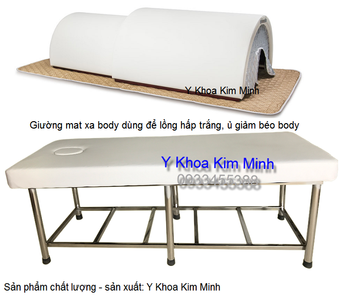 Giuong mat xa inox de long u trang, khoang giam beo body - Y Khoa Kim Minh