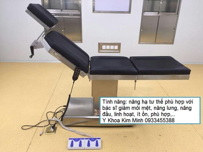 Giường mổ phẫu thuật y tế, thẩm mỹ chỉnh điện nâng hạ bằng remote G019 - Y khoa Kim Minh 0933455388