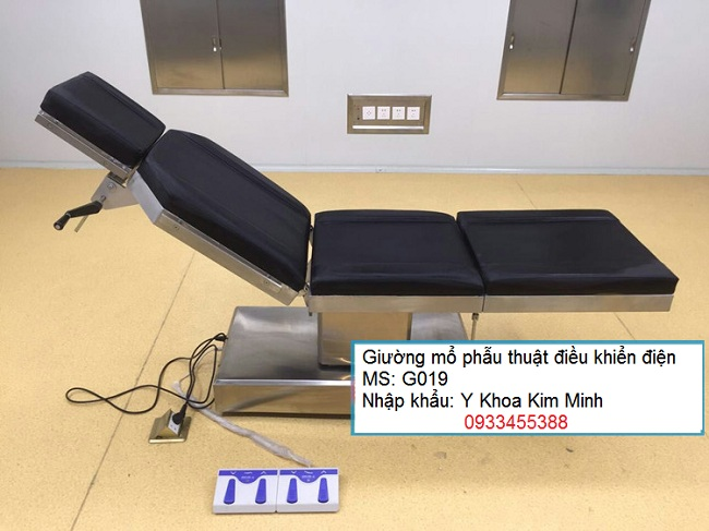 Giường mổ phẫu thuật điều khiển remote G019 - Y khoa Kim Minh 0933455388