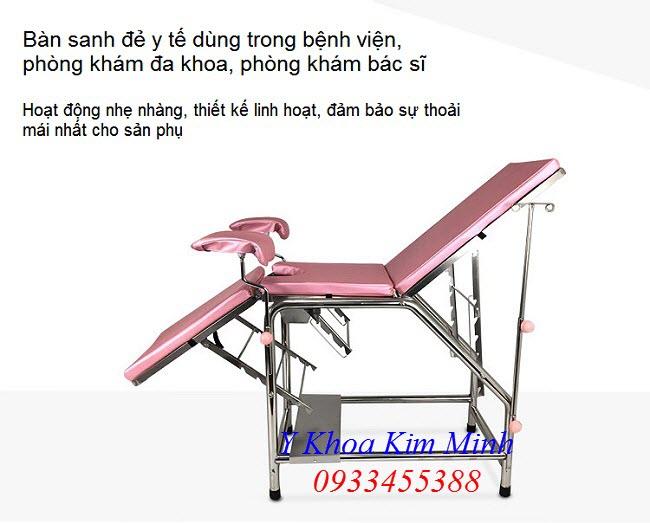 Y Khoa Kim Minh cung cap ban thiet bi y te, giuong sanh de inox SUS-304 tai Tp Ho Chi Minh - Y khoa Kim Minh 0933455388