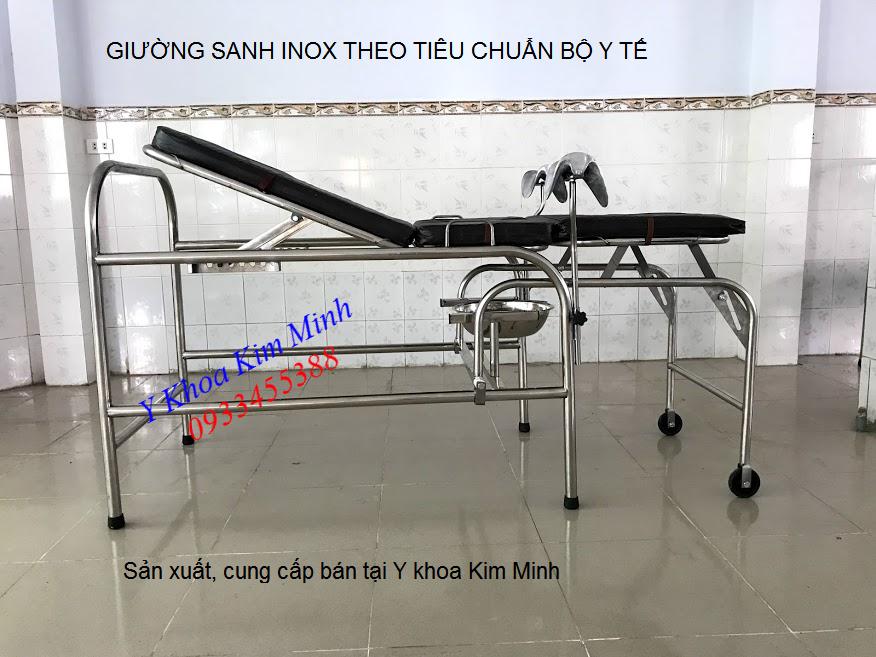 Giường sanh inox y tế sản xuất bán tại Tp Hồ Chí Minh - Y khoa Kim Minh 0933455388