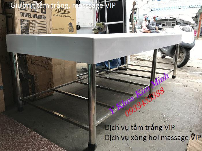 Giường tắm trắng, giường tắm massage VIP sản xuất bán tại Y Khoa Kim Minh