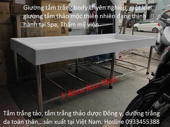 Giường tắm trắng thảo dược dưỡng trắng da toàn thân lên tông tự nhiên - Y Khoa Kim Minh