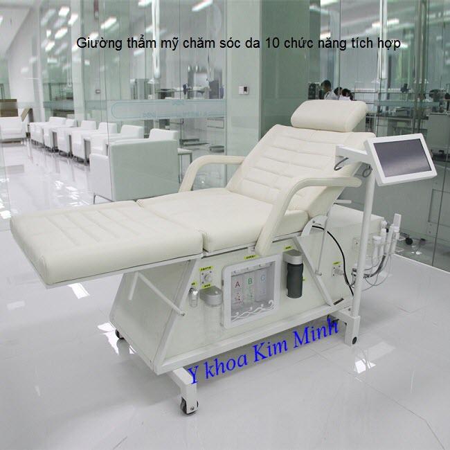 Giường spa thẩm mỹ 10 chức năng chăm sóc da - Y Khoa Kim Minh 0933455388