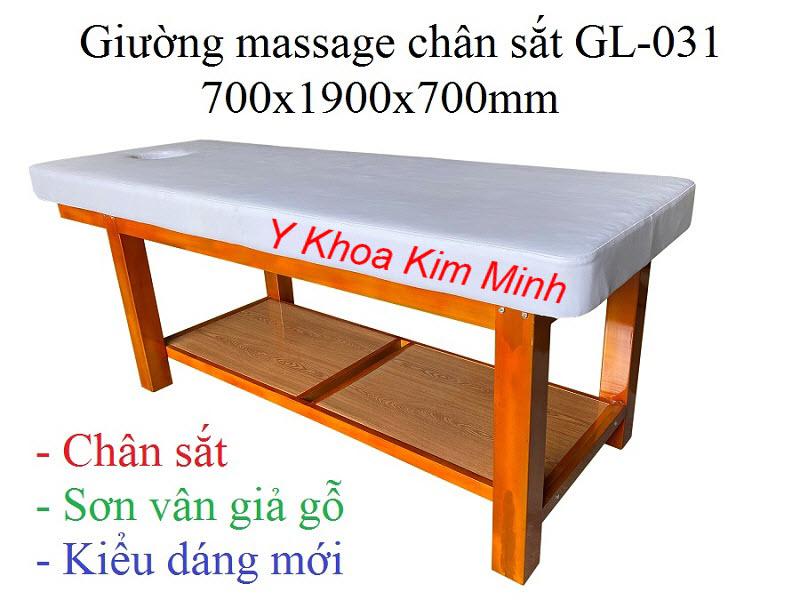 Giường thẩm mỹ spa khung chân sắt GL-031 sản xuất tại Y Khoa Kim Minh
