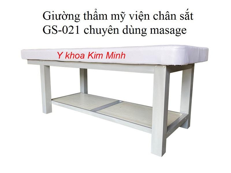 Giường thẩm mỹ chăm sóc da body chân khung sắt GS-021 bảo hành 5 năm - Y khoa Kim Minh