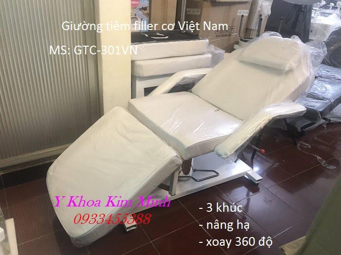 Giường tiêm filler nâng hạ bằng cơ sản xuất Việt Nam mã số GTC-301VN - Y khoa Kim Minh