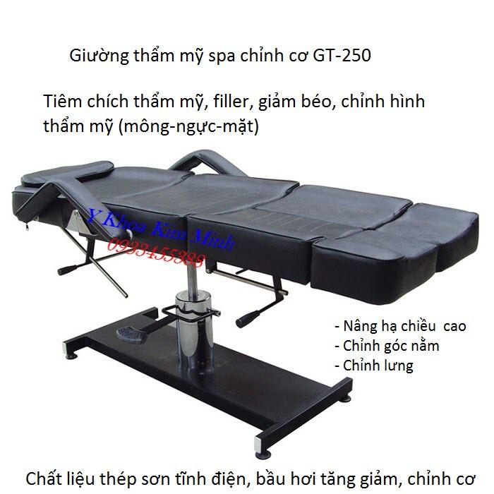 Noi ban giuong tiem tham my nang ha bang co khi GT-250 - Y khoa Kim Minh