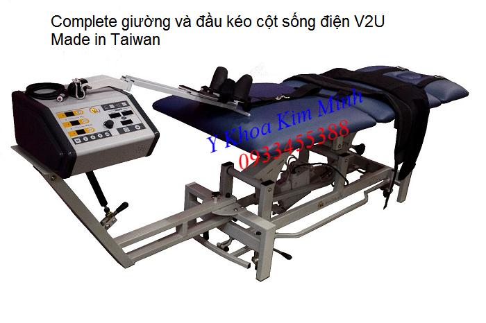 Bộ giường kéo giãn cột sống điện nhập khẩu Đài Loan V2U Taiwan - Y khoa Kim Minh 0933455388