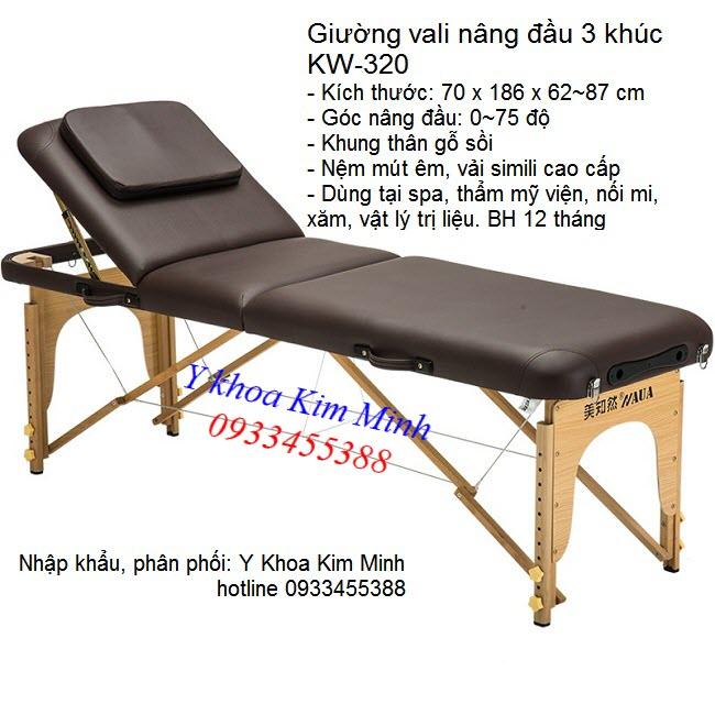 Giường vali xêp nâng đầu KW-320 - Y Khoa Kim Minh