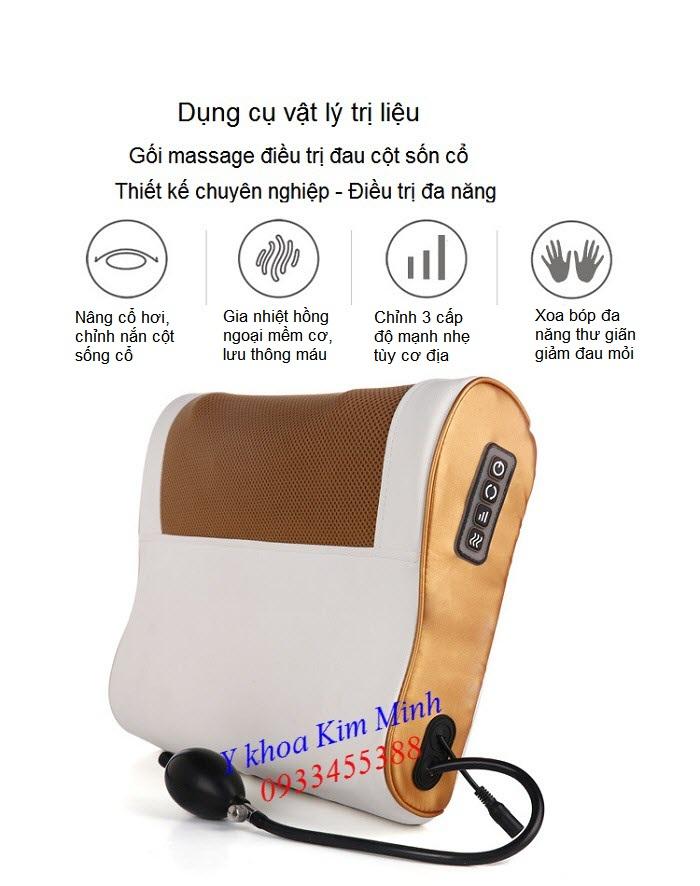 Gối điều trị giảm đau cột sống cổ Masssaging Filow K16D - Y khoa Kim Minh