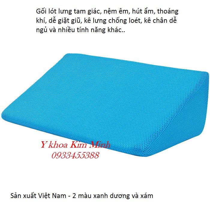 Gói kê lót lưng giúp người bệnh nằm nghiêng ngăn tạo vết loét người bệnh nằm liệt giường - Y Khoa Kim Minh