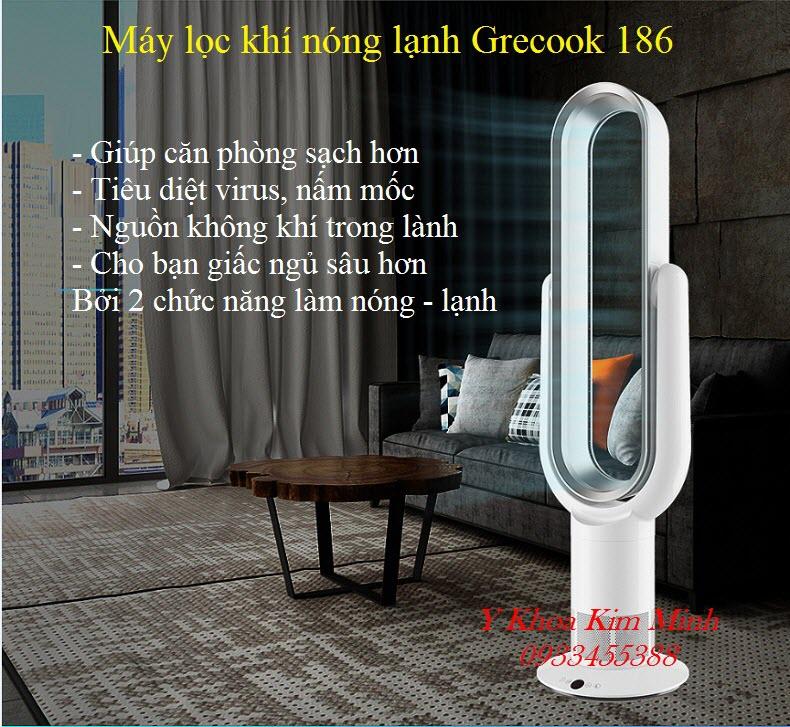 Grecook 186 là thiết bị lọc khí, diệt virus, làm lạnh phòng 2 chức năng, an toàn, hiệu quả - Y Khoa Kim Minh