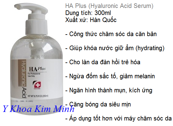 Serum HA Plus Han quoc chuyen dung cang bong, xoa nhan, lam min da - Y Khoa Kim Minh