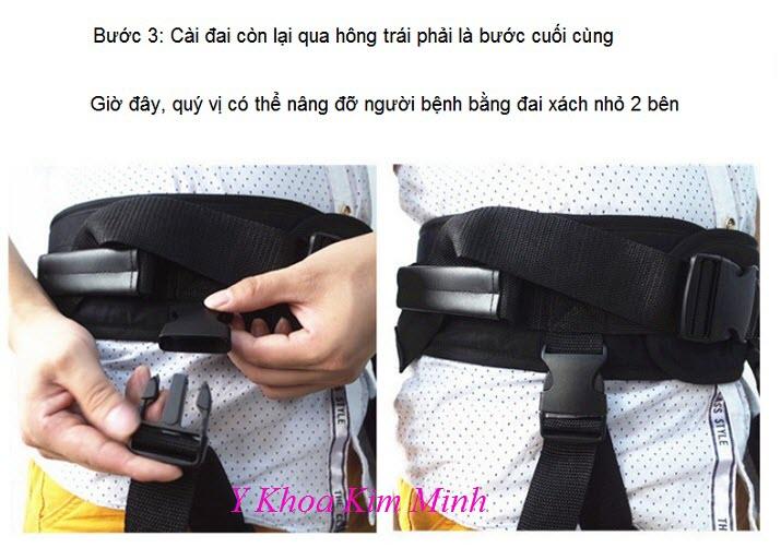 Hướng dẫn bước 3 gắn đai hông giúp di chuyển người bệnh - Y Khoa Kim Minh