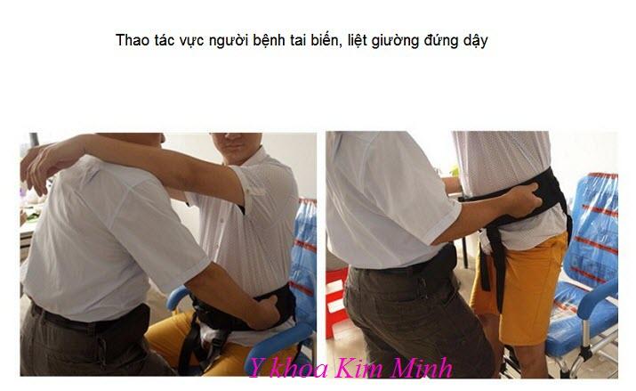 HDSD 4 cách vực người bệnh đứng dậy bằng đai lưng hỗ trợ di chuyển - Y Khoa Kim Minh