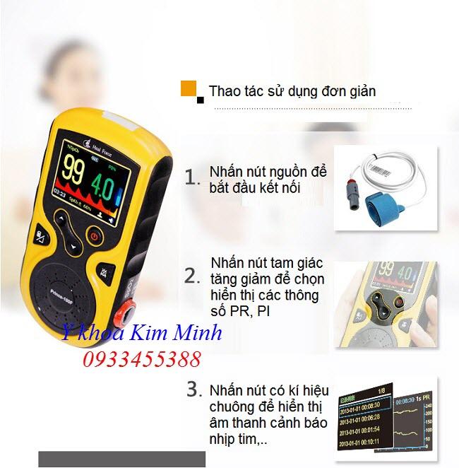 Hướng dẫn sử dụng SPO2 trẻ sơ sinh 3 thông số  - Y Khoa Kim Minh 0993455388