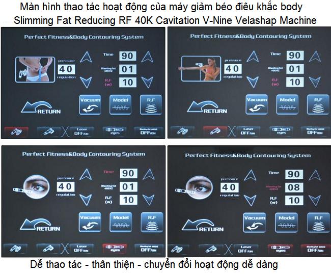 HDSD máy giảm béo cấp tốc V-Nine Velashap 5 trong 1 - Y khoa Kim Minh