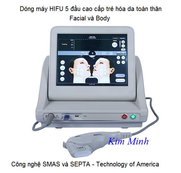 HIFU 5 đầu cao cấp điều trị lớp SMAS và SEPTA mới nhất - Y Khoa Kim Minh