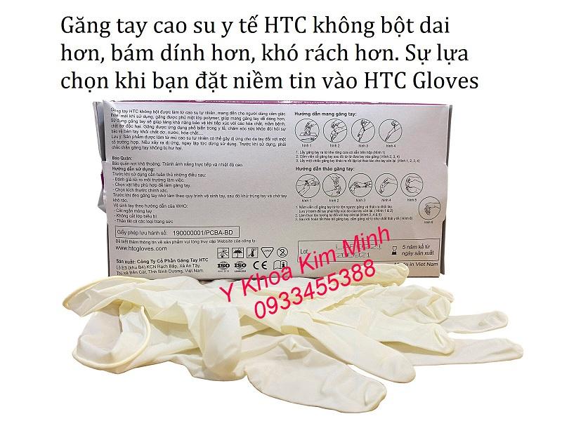 Găng tay cao su không bột HTC Mã Lai