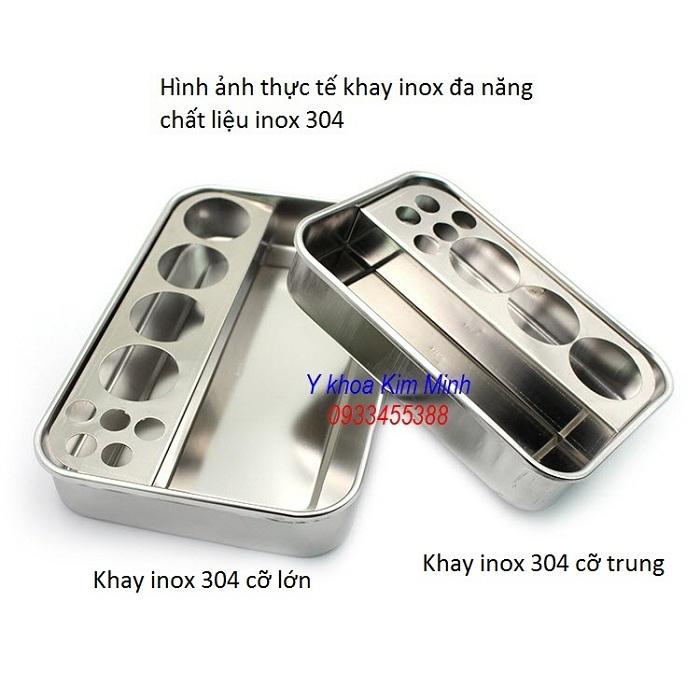 Nơi bba1n khay inox 304 chất lượng đa năng dùng cho ngành y tế thẩm mỹ - Y khoa Kim Minh