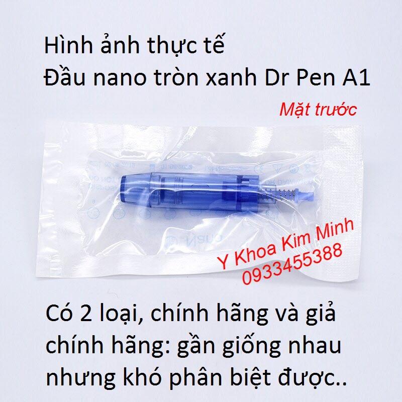 Hình ảnh mặt trước của đầu kim nano xanh máy Dr Pen chính hãng A1