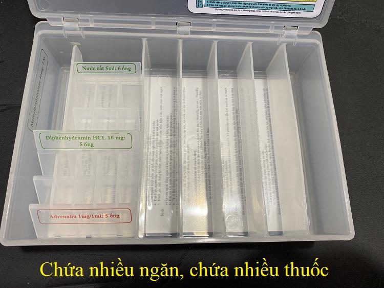 Hình ảnh hộp thuốc cấp cứu phản vệ bằng nhựa có nắp - Y khoa Kim Minh