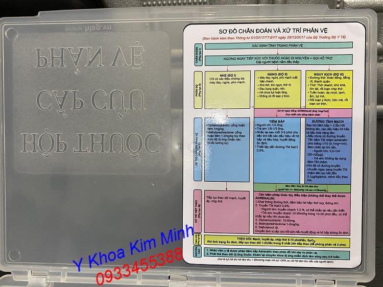 Hộp thuốc sơ cấp cứu chống sốc phản vệ dùng cho spa thẩm mỹ viện - Y Khoa Kim Minh