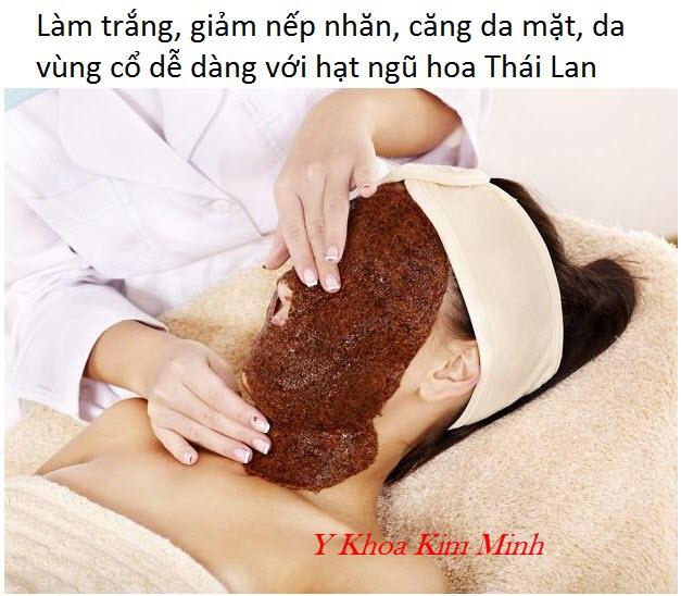 Cách sử dụng bột mặt nạ hạt ngũ hoa trị mụn, dưỡng da - Y Khoa Kim Minh