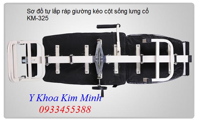 Hướng dẫn cách lắp ráp giường kéo cột sống KM-325 - Y Khoa Kim Minh