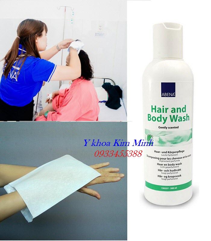 Hướng dẫn cách dùng dầu gội đầu khô Abena cho người bệnh - Y Khoa Kim Minh