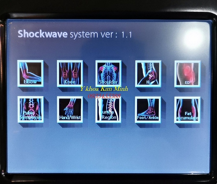 Hướng dẫn chi tiết sử dụng trên màn hình máy shockwave KA-8034 - Y khoa Kim Minh