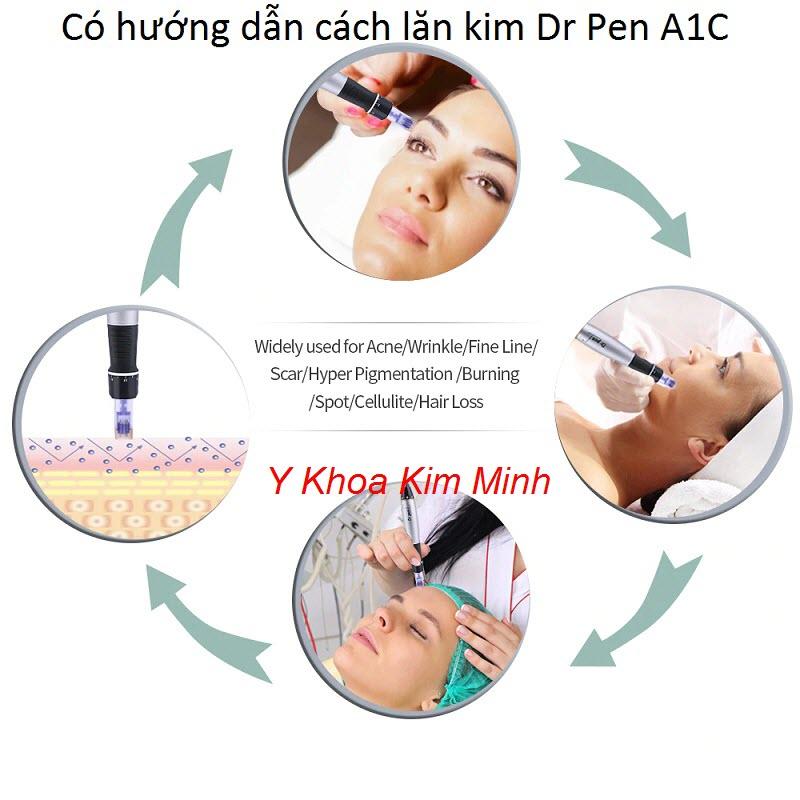 Cách lăn kim bằng máy Dr Pen A1C hiệu quả