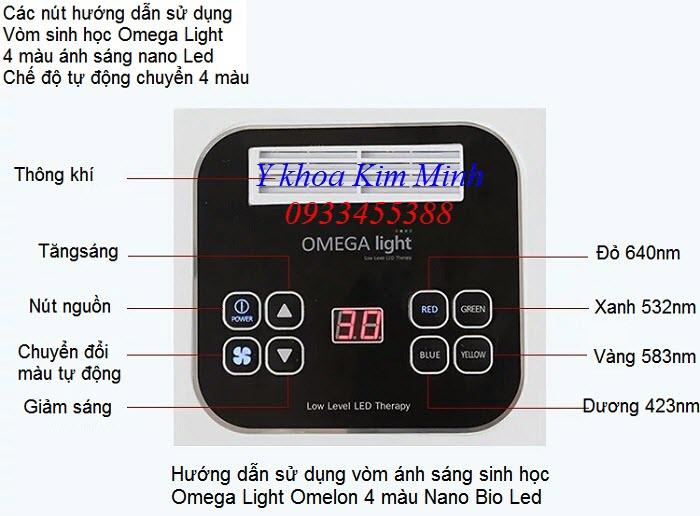 Hướng dẫn sử dụng vòm ánh sáng sinh học 4 màu Omega Light Omelon Nano Bio Led - Y khoa Kim Minh