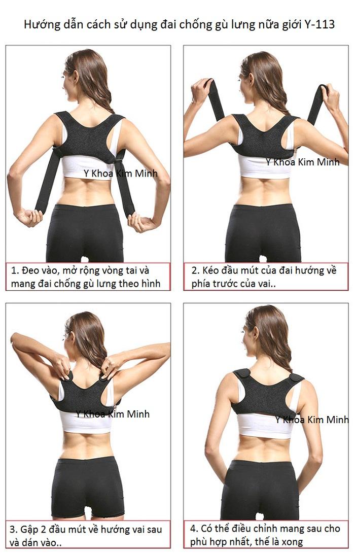 Hướng dẫn cách sử dụng đai chống gù lưng Y-113 dùng cho nữ giới - Y Khoa Kim Minh