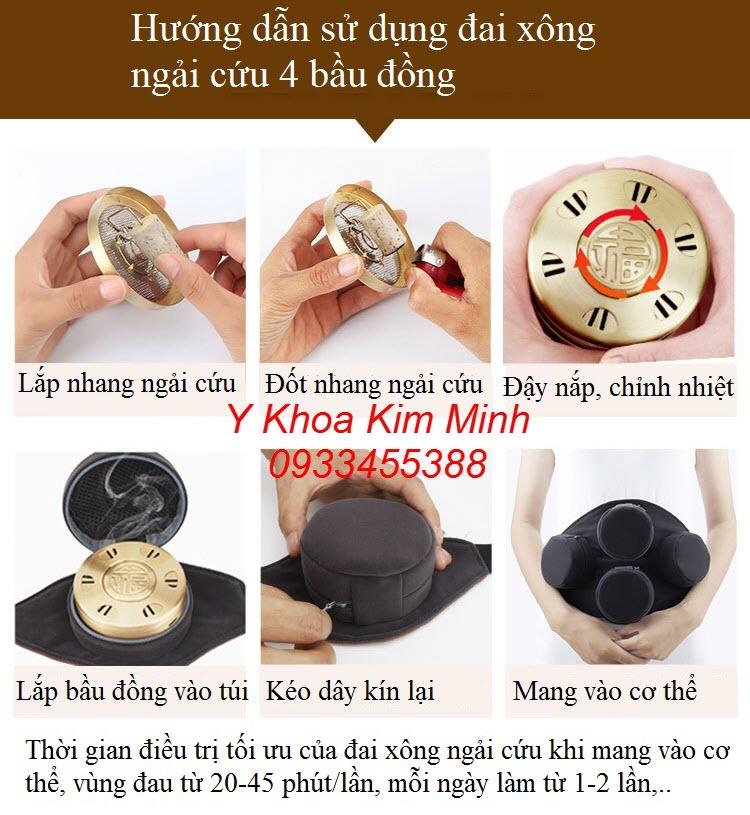 Hướng dẫn sử dụng đai xông ngải cứu - Y khoa Kim Minh