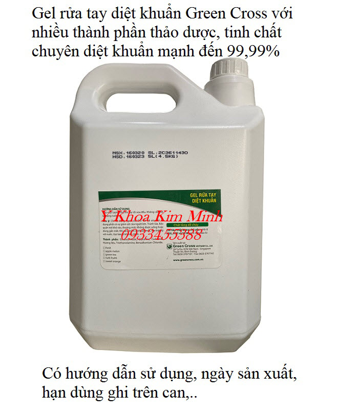Hướng dẫn cách dùng gel rửa tay khô diệt khuẩn Green Cross giúp bạn an toàn hơn và tránh lây nhiễm chéo - Y khoa Kim Minh