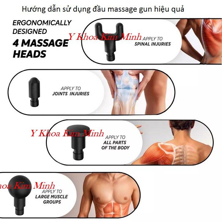 Hướng dẫn sử dụng đầu điều trị của máy massage gun Phoenix A2 - Y Khoa Kim Minh