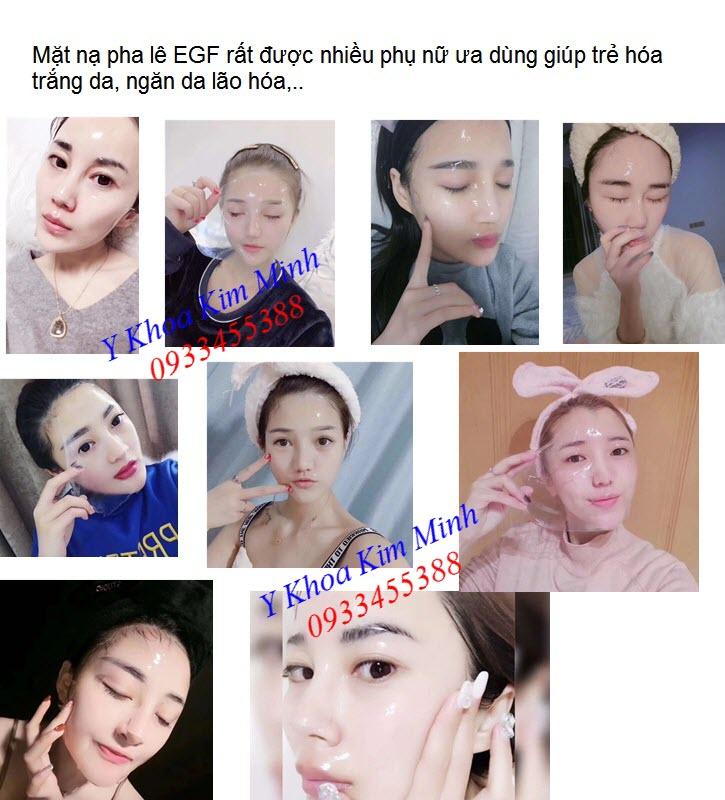 Hướng dẫn sử dụng mặt nạ pha lê EGF trẻ hóa trắng da - Y khoa Kim Minh 0933455388