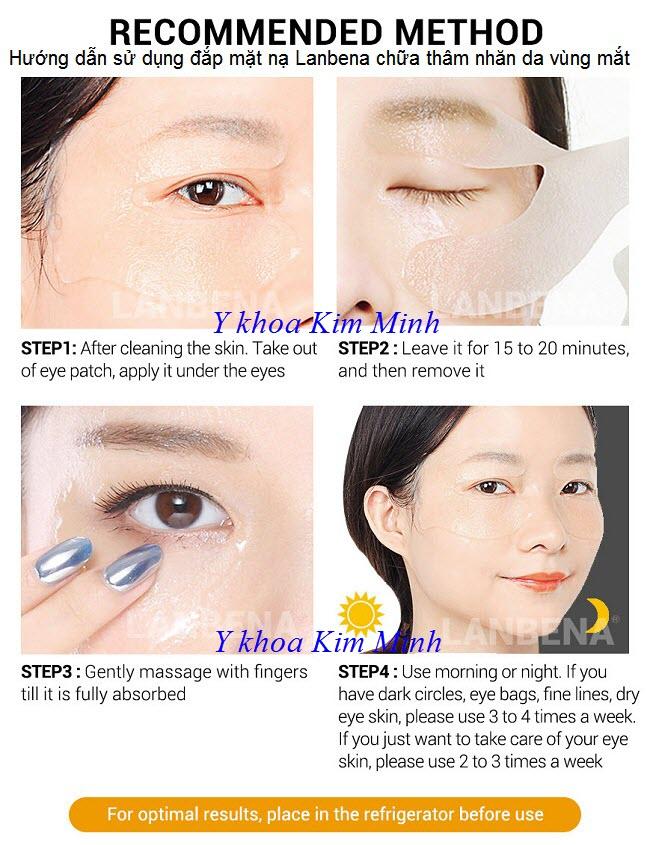 Hướng dẫn sử dụng mặt nạ trị thâm nhăn da vùng mắt Lanbena - Y khoa Kim Minh