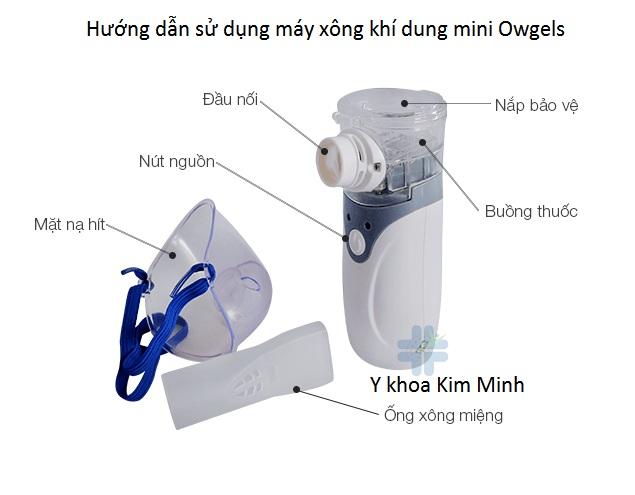 Hướng dẫn cách dùng máy xông mũi họng cho trẻ em Owgels - Y khoa Kim Minh