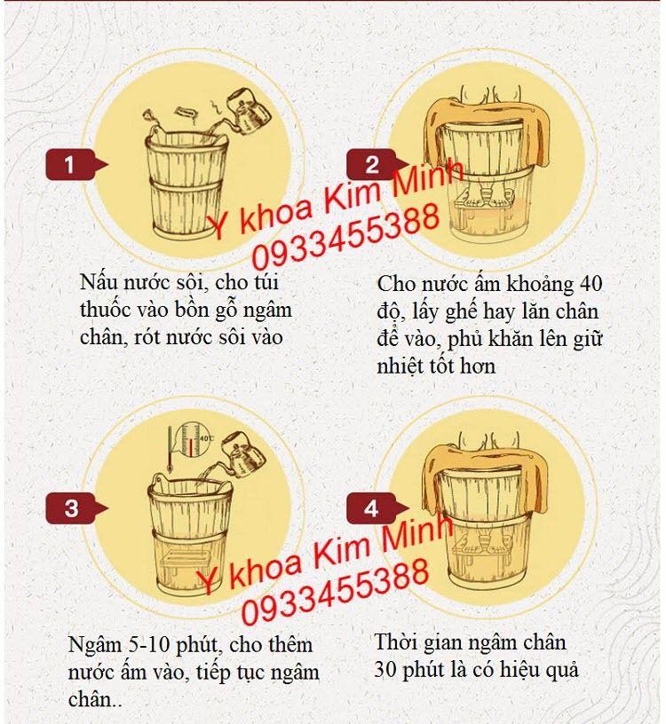 Hướng dẫn sử dụng ngâm chân thuốc bắc với bồn gổ ngâm chân - Y khoa Kim Minh